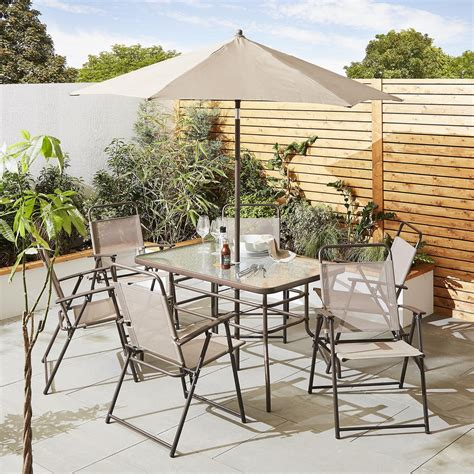 patio furniture hawaii new tesco hawaii 8 garden patio dining furniture set cappuccino ebay