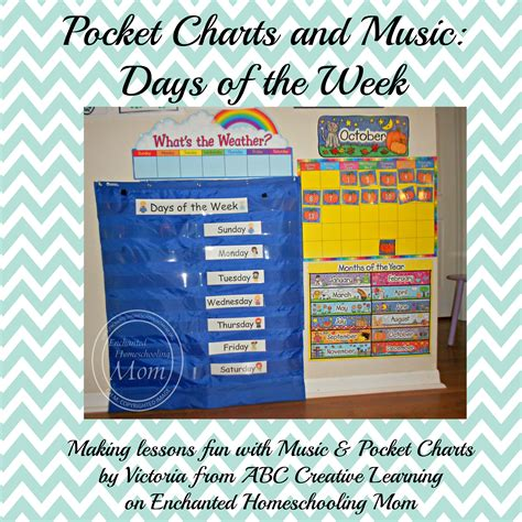different days of week pocket charts and days of the week enchanted