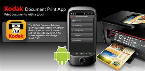 kodak printer app for android kodak launches document cloud printing app for android