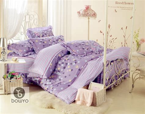 purple pattern comforter new purple flower floral pattern cotton full queen bedding
