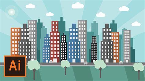 flat landscape illustrator tutorial for beginners youtube illustrator tutorial urban city landscape flat design