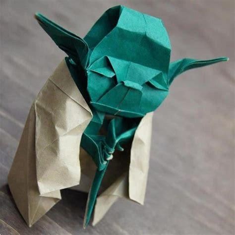 Origami Jedi - origami jedi master yoda diy is