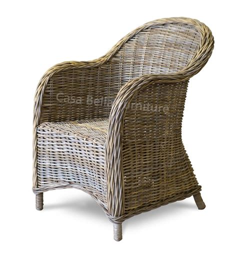 wicker armchair kubu rattan armchair casa bella furniture uk