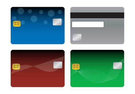 Visa Credit Card Template Vector Bank Cards Templates Free Vector Stock