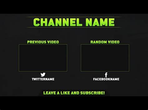 template photoshop outro clean free outro template psd free download free gfx