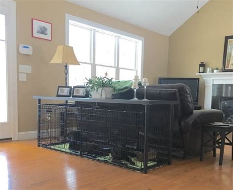 sofa table dog crate dog crates console tables and consoles on pinterest