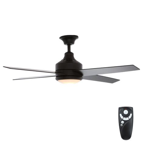 mercer 52 ceiling fan hton bay mercer 52 in indoor matte black ceiling fan
