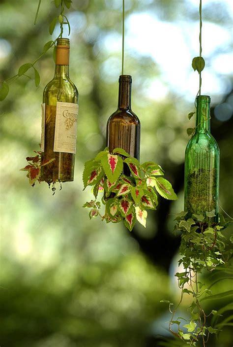 Wine Bottle Planter Diy by Diy Wine Bottle Hanging Plantersapplepins