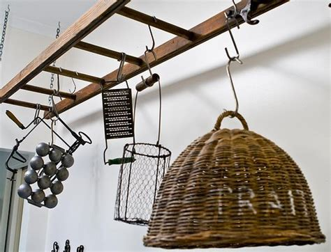 Wooden Ladder Pot Rack 15 cool and creative ways to reuse ladders