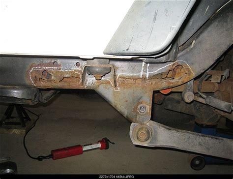 jeep wrangler frame jeep wrangler rear frame rust