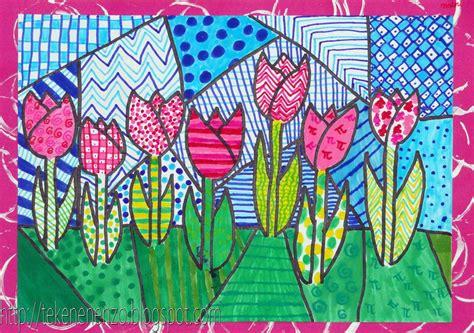 pattern art grade 5 tekenen en zo in de stijl van romero britto