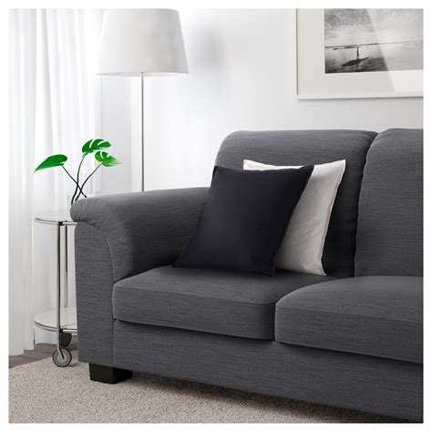 grey sofa ikea tidafors three seat sofa hensta grey ikea