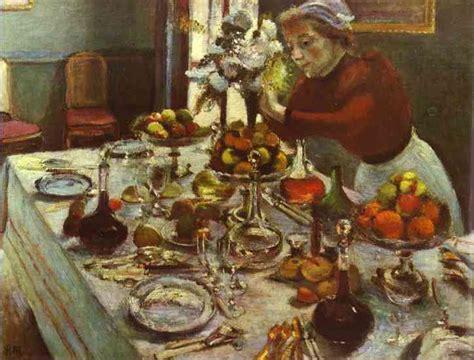 matisse la tavola imbandita dinner table henri matisse painting