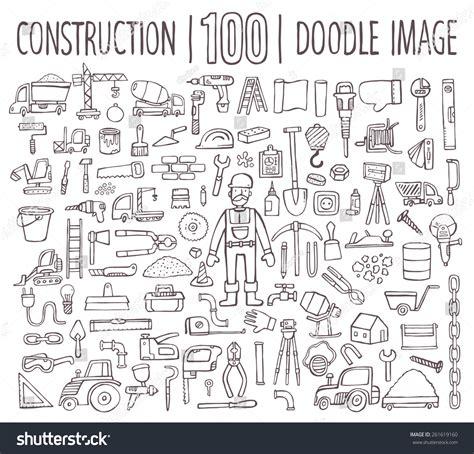 building doodle doodle mega set building subjects vector stock vector