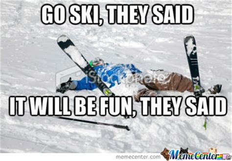 Ski Meme - skiing by dcsgiovanni meme center