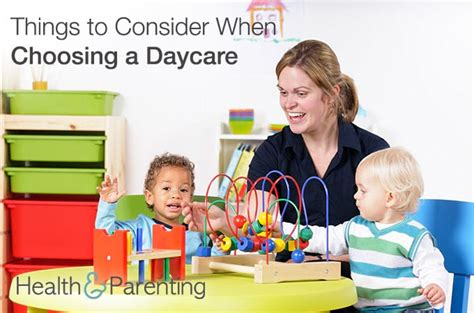 5 Essential Things To Consider 5 Important Things To Consider When Choosing A Daycare