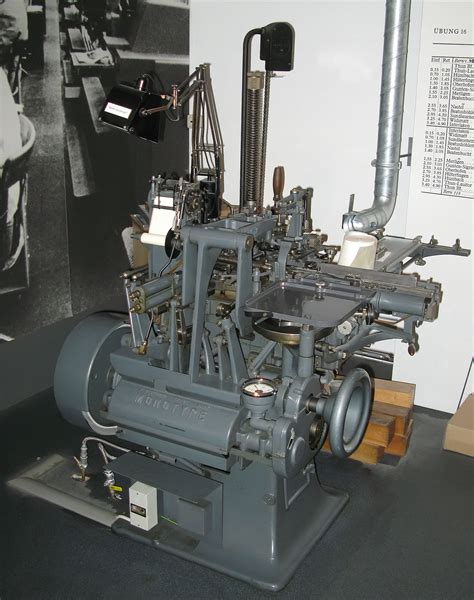 when was the linotype machine invented times new monotype linotype