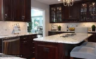 Slate Laminate Countertop - colonial white granite dark cabinets backsplash ideas