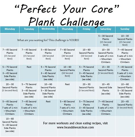 plank challenge exercise monthly challenge your plank challenge