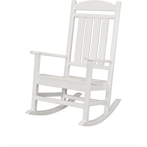 white outdoor rocking chair home depot hanover white all weather pineapple cay patio porch rocker