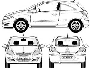Opel Corsa Dimensions Car Blueprints Opel