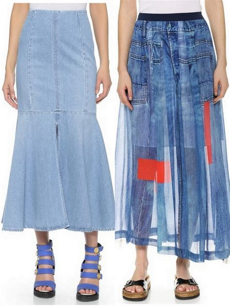 Flare Maxi Washed denim maxi skirts your go to for eat sleep