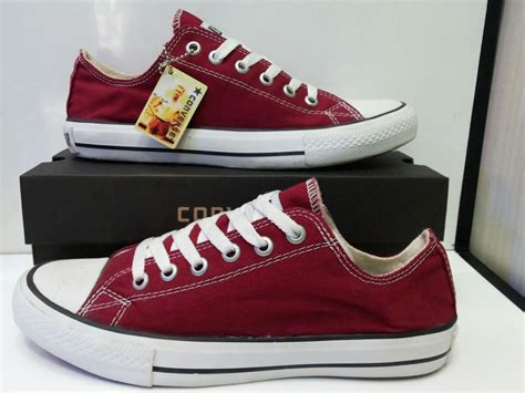 Convers Low Gradeori sepatu casual canvas low unisex 9 varian warna