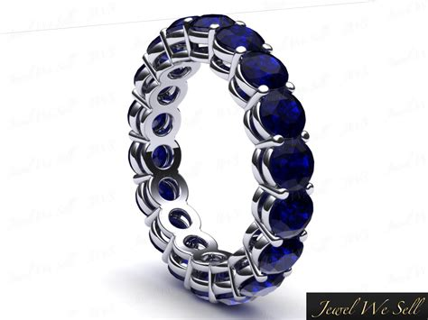 Blue Sapphire 4 35ct 4 35ct sapphire shared gallery wedding eternity band