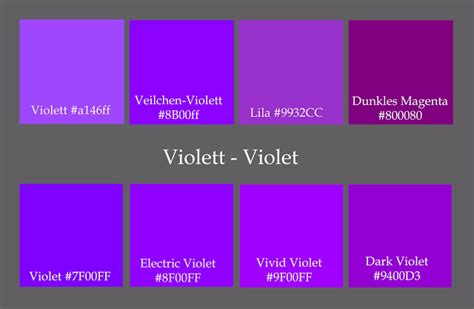 names of purple violet color names related keywords suggestions violet