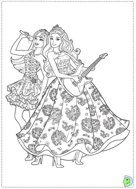 coloring pages for barbie princess and the popstar 17 best images about v 228 rityskuvat barbie on pinterest