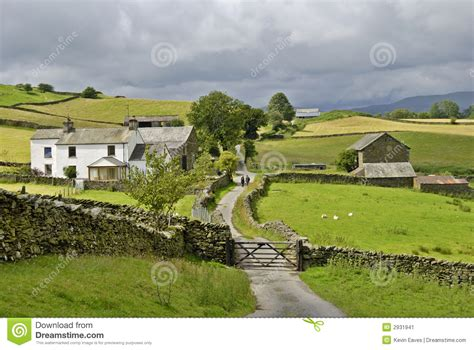 Country Farm House Plans country lane and farm stock image image 2931941