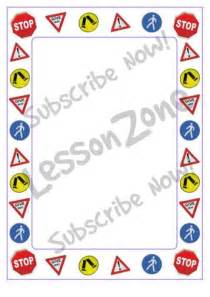 lesson zone au road sign page border