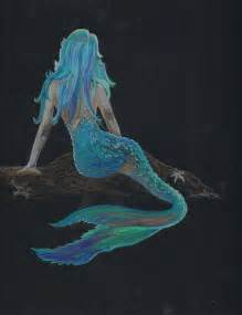 Colored pencil mermaid picture by wozonart on etsy 60 00 cards