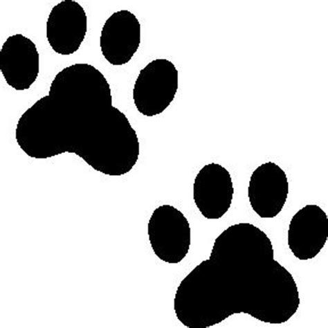 Dog Paw Print Template Paw Print Templates