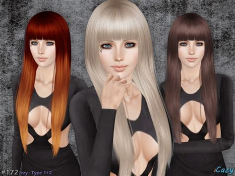 the sims resource hair sims 3 izzy hairstyle set by cazy by the sims resource sims 3