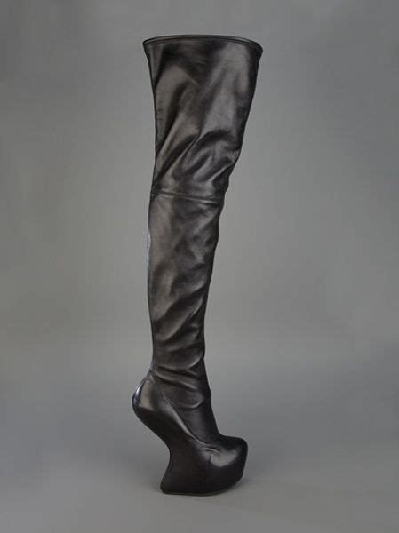 giuseppe zanotti sculpted thigh high boot in black lyst