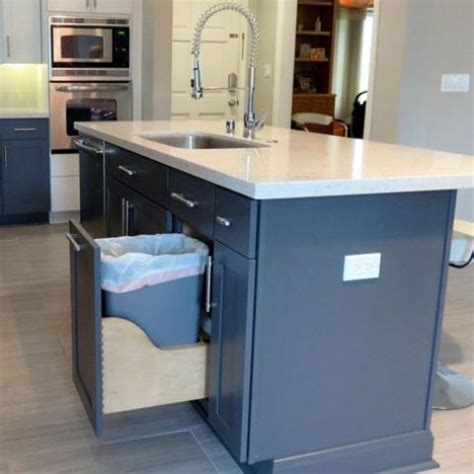 kitchen island trash 29 sneaky ways to hide a trash can in your kitchen digsdigs