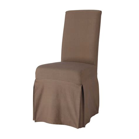 Taupe Chair Covers by Cotton Chair Cover In Taupe Margaux Maisons Du Monde
