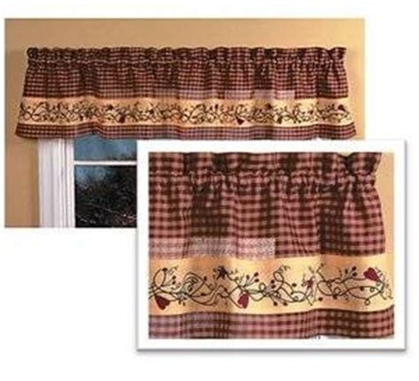 country hearts and kitchen country hearts valance 14 quot x70 quot home kitchen