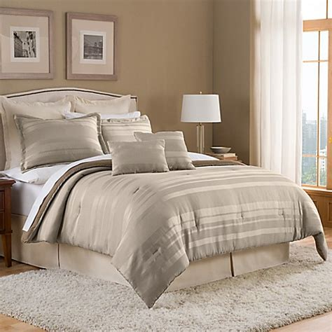 duet 8 piece comforter set in taupe bed bath beyond