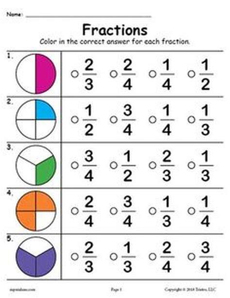 2nd grade fractions worksheets 2nd grade worksheets