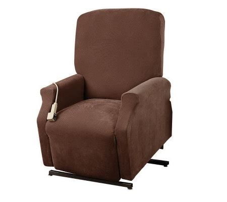 sure fit recliner slipcovers sure fit medium lift recliner slipcover page 1 qvc com