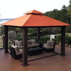 Backyard Patio With Gazebo by Seville Gazebo Gazebos Amp Patio Greenhouse Megastore