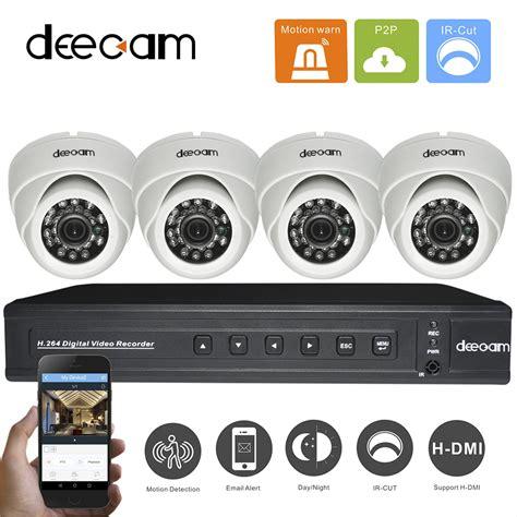 deecam 4ch 600tvl kamera dvr kit cctv system 600tvl 4ch