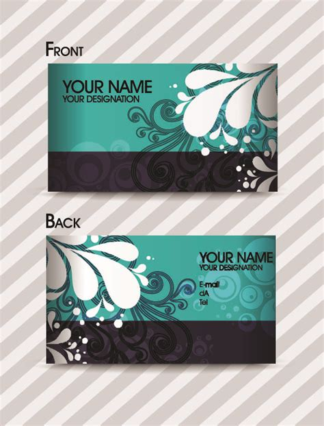free vector fashion business card templates fashion pattern business card template 01 vector free