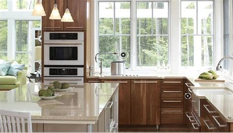 walnut kitchen cabinets granite countertops veneer kitchen cabinets contemporary kitchen kohler