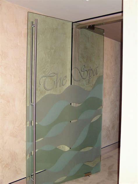 Glass Door Salon Spa Waves Frameless Glass Doors Sans Soucie