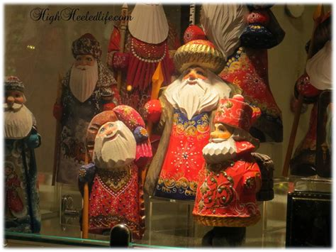 Handcrafted Santas - celia m living my high heeled lowe s toronto