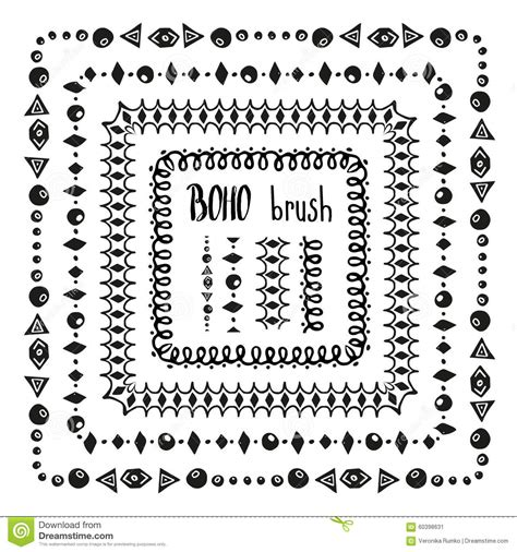 vector pattern brushes hand drawn decorative vector pattern brushes stock vector