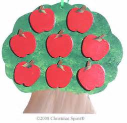personalized tree 8 apples christmas tree ornaments